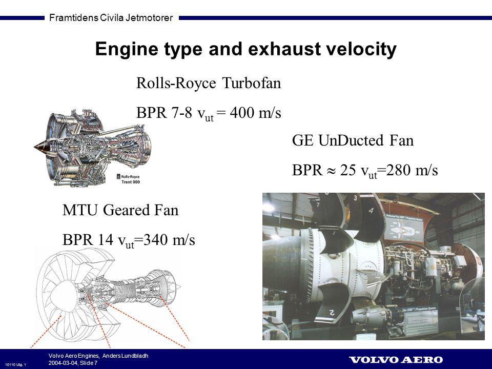 Engine type and exhaust velocity