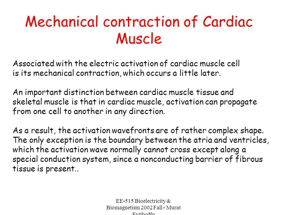 Mechanical contraction of Cardiac Muscle