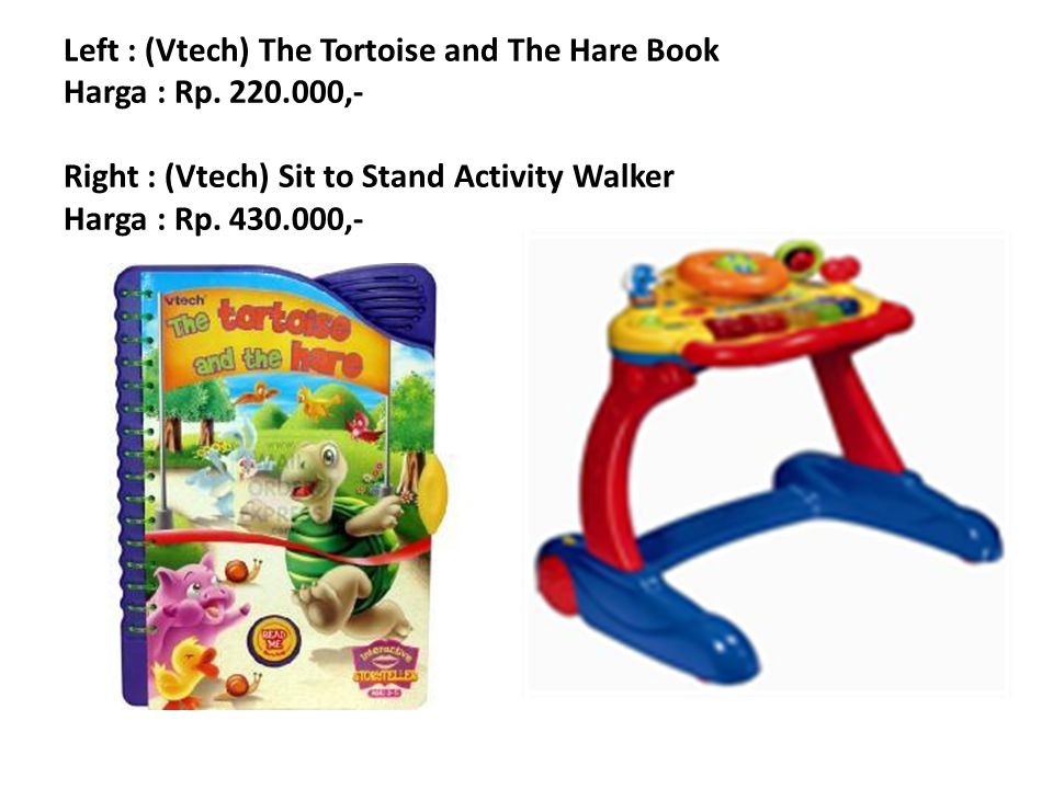 Left : (Vtech) The Tortoise and The Hare Book Harga : Rp. 220