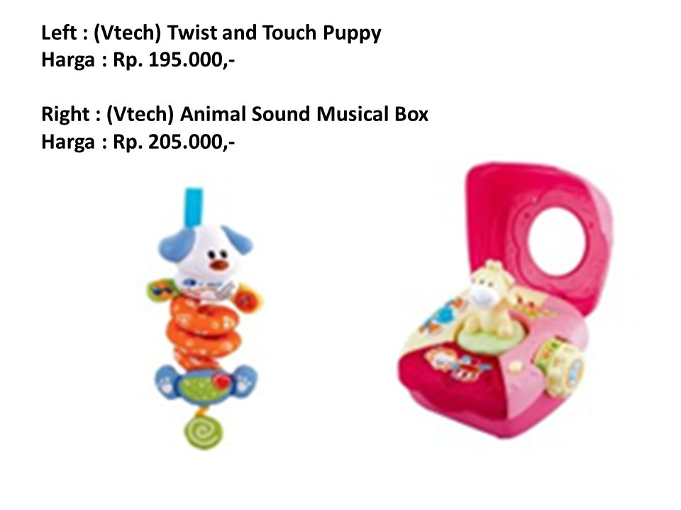 Left : (Vtech) Twist and Touch Puppy Harga : Rp. 195