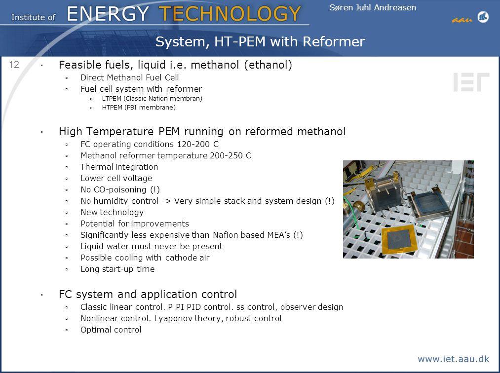 System, HT-PEM with Reformer
