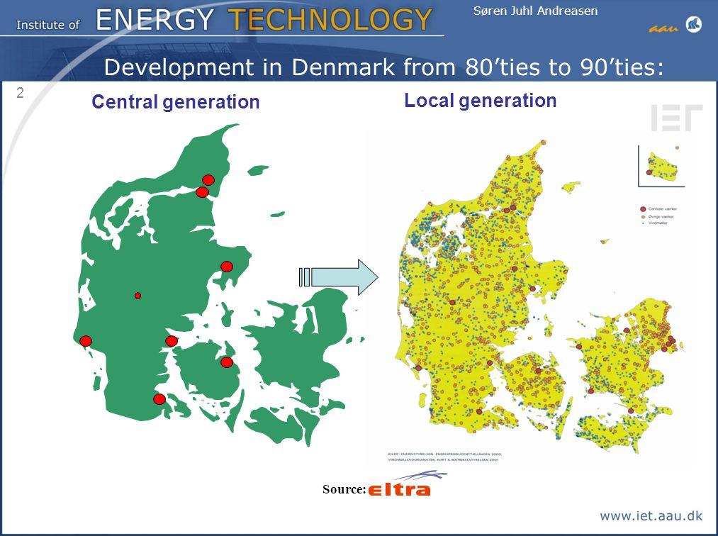 Development in Denmark from 80'ties to 90'ties: