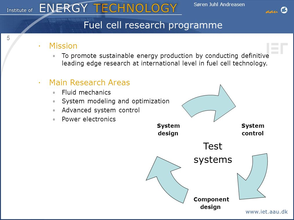 Fuel cell research programme