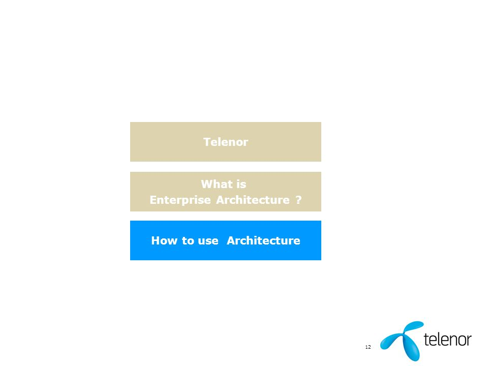Enterprise Architecture How to use Architecture
