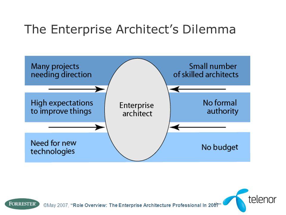 The Enterprise Architect's Dilemma