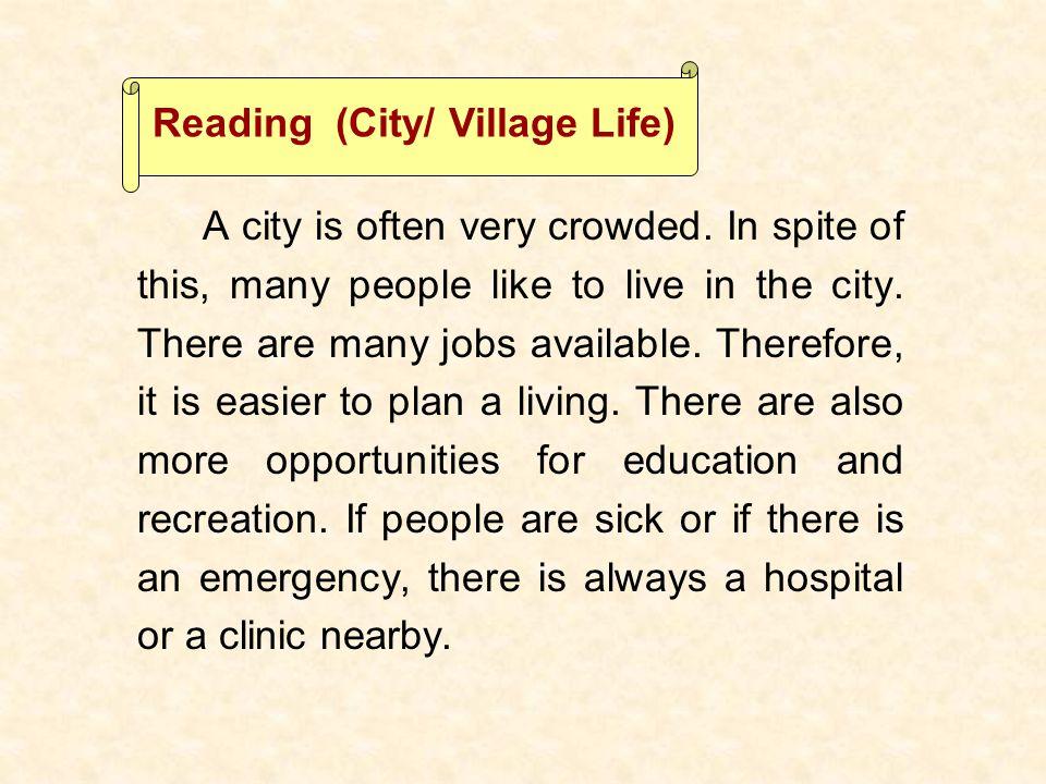 Reading (City/ Village Life)