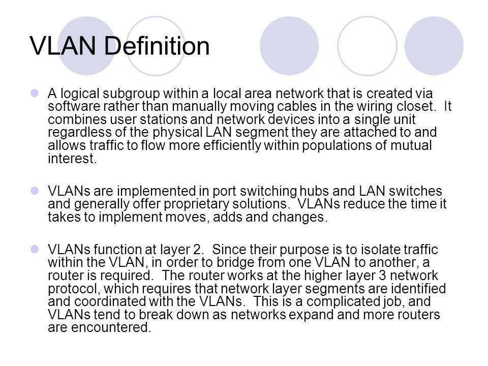 VLAN Definition