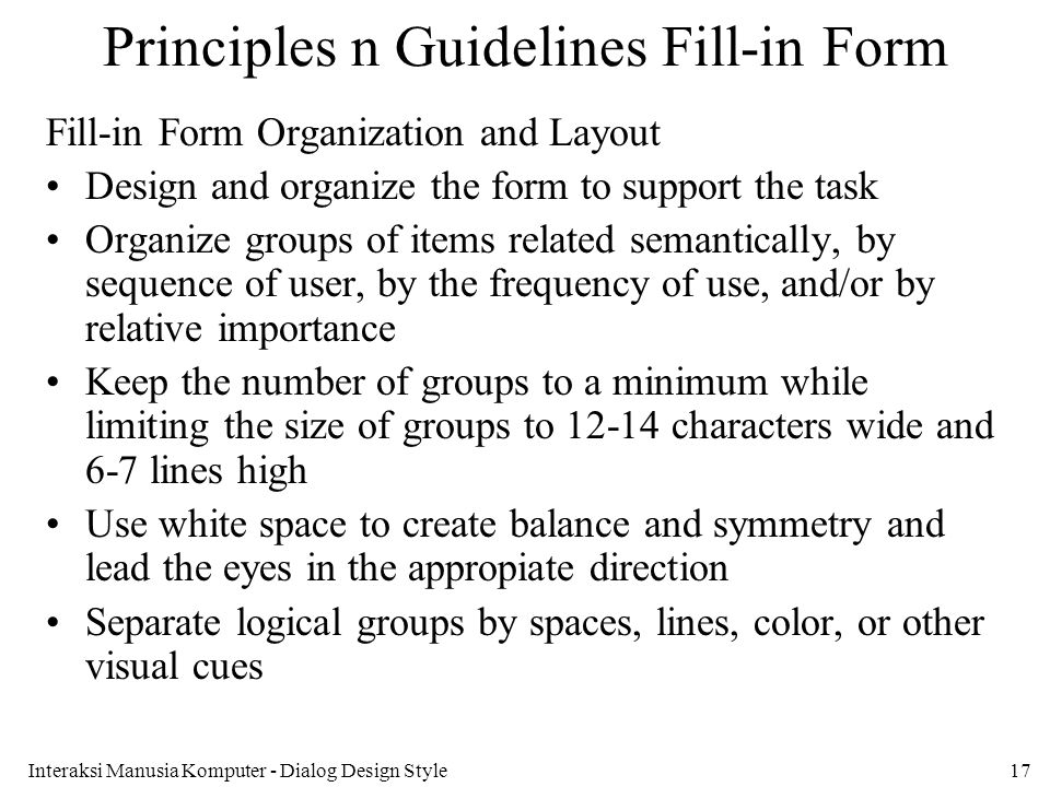 Principles n Guidelines Fill-in Form