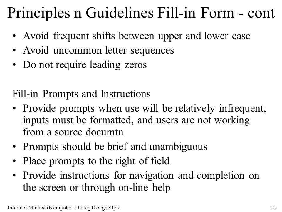 Principles n Guidelines Fill-in Form - cont