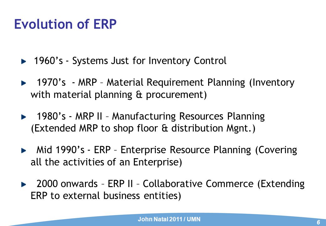 ERP – Expectations Integrating all the functions