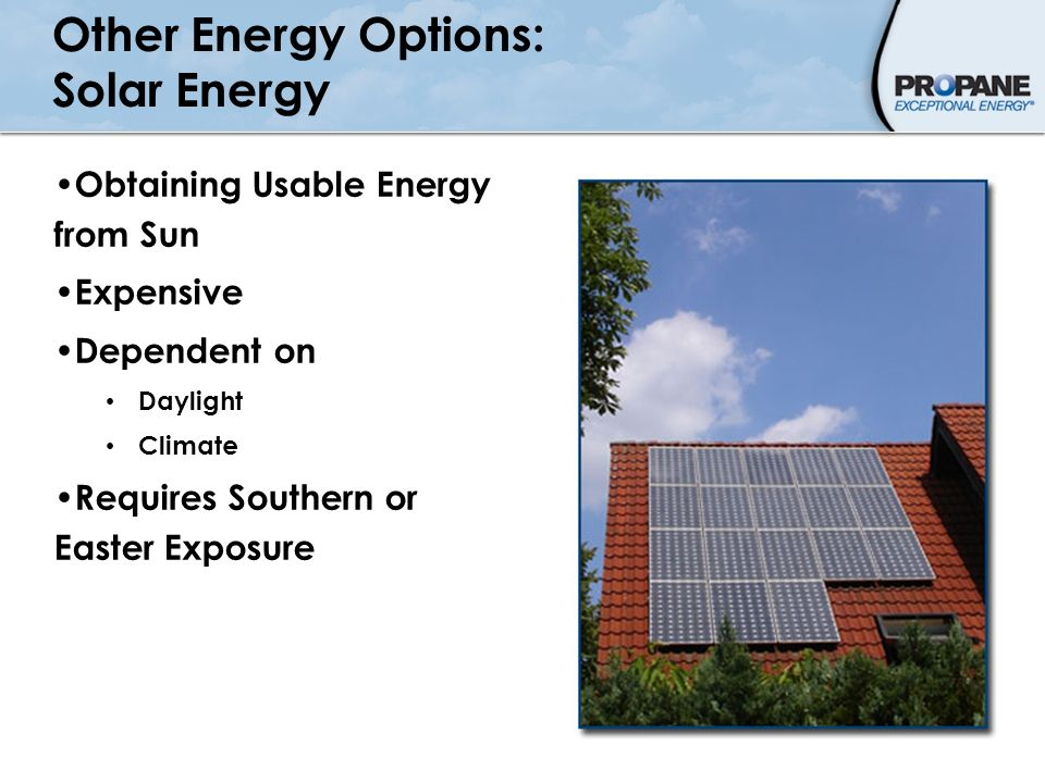 Other Energy Options: Solar Energy
