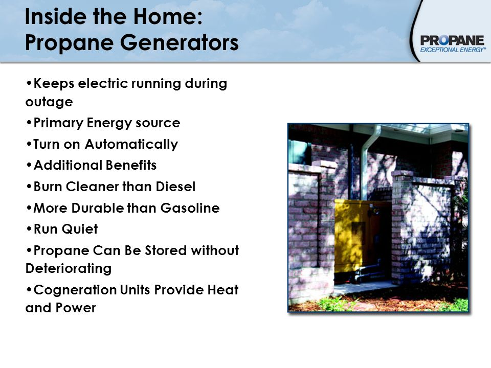 Inside the Home: Propane Generators
