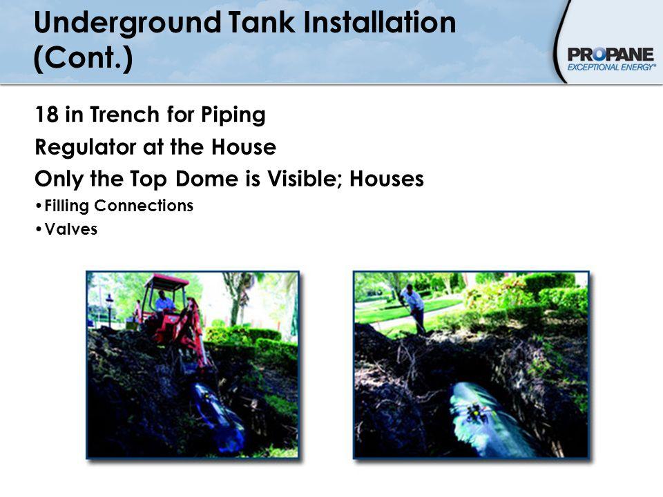 Underground Tank Installation (Cont.)