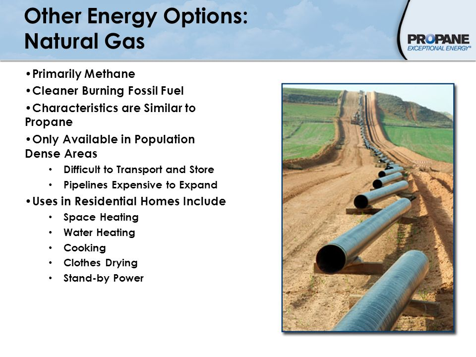 Other Energy Options: Natural Gas