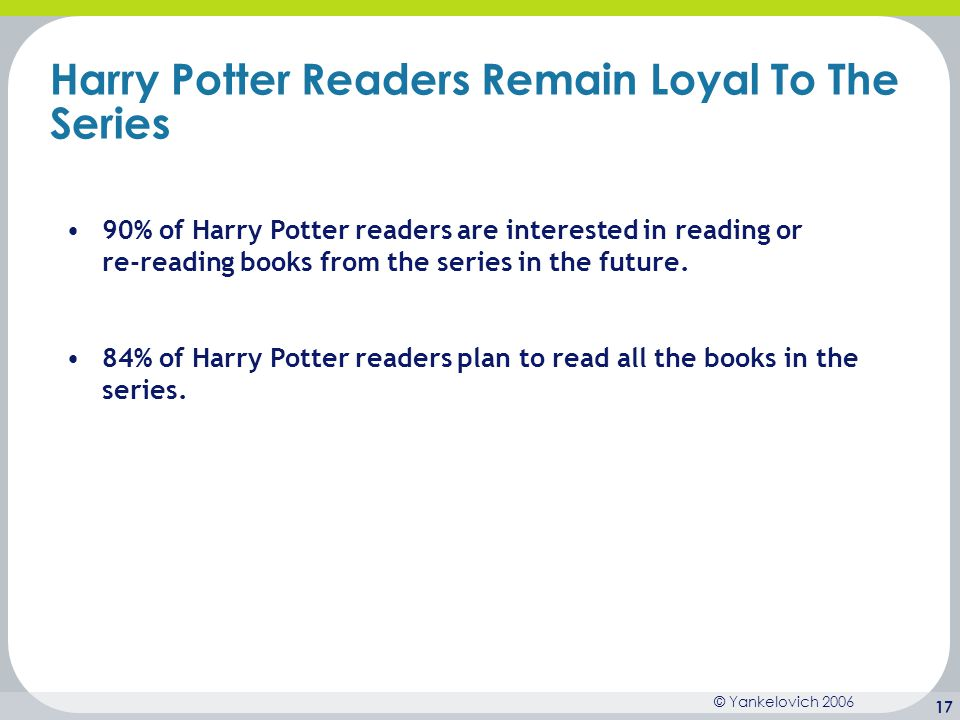 Harry Potter Readers Remain Loyal To The Series