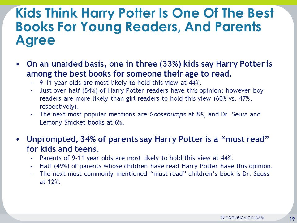 Kids Think Harry Potter Is One Of The Best Books For Young Readers, And Parents Agree