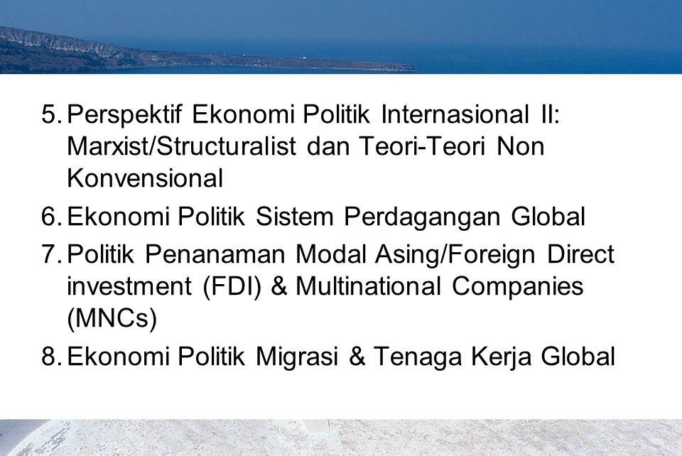 Perspektif Ekonomi Politik Internasional II: Marxist/Structuralist dan Teori-Teori Non Konvensional