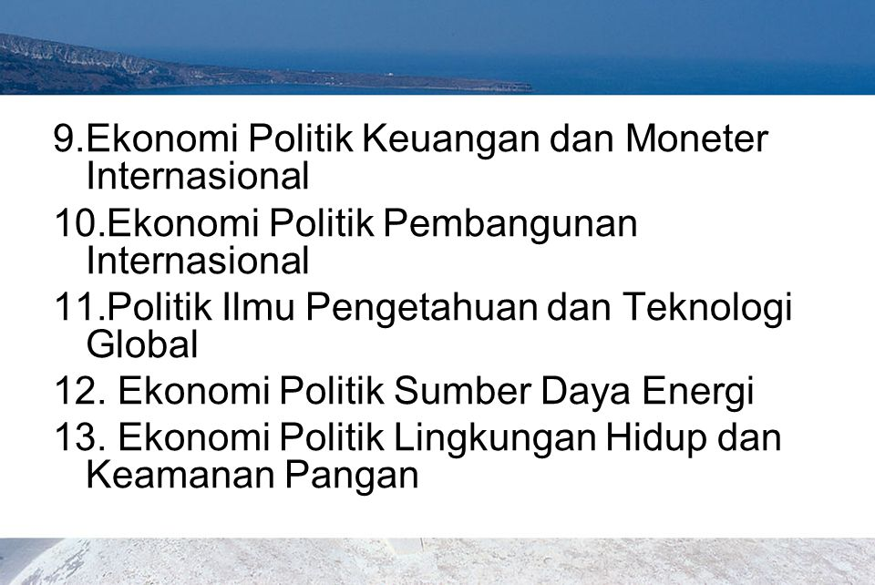 Ekonomi Politik Keuangan dan Moneter Internasional