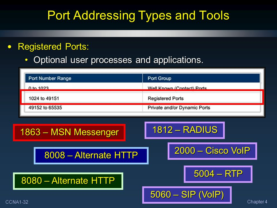 Port Addressing Types and Tools