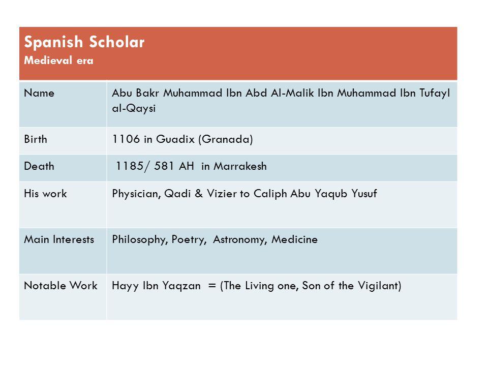 Spanish Scholar Medieval era