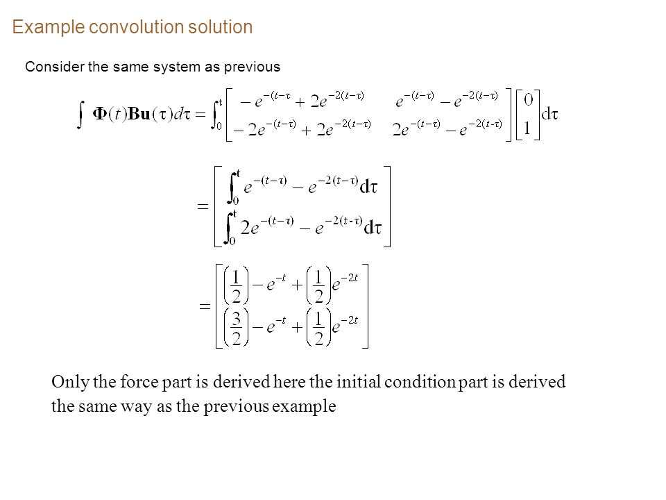 Example convolution solution
