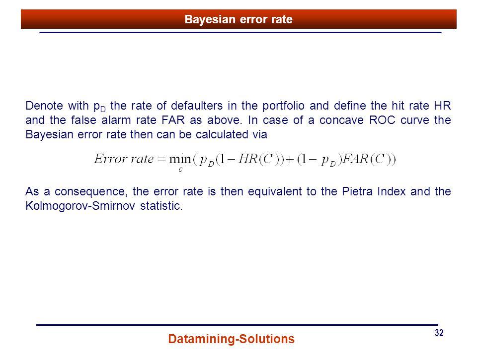 Bayesian error rate