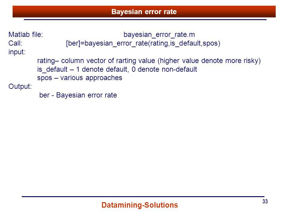 Matlab file: bayesian_error_rate.m