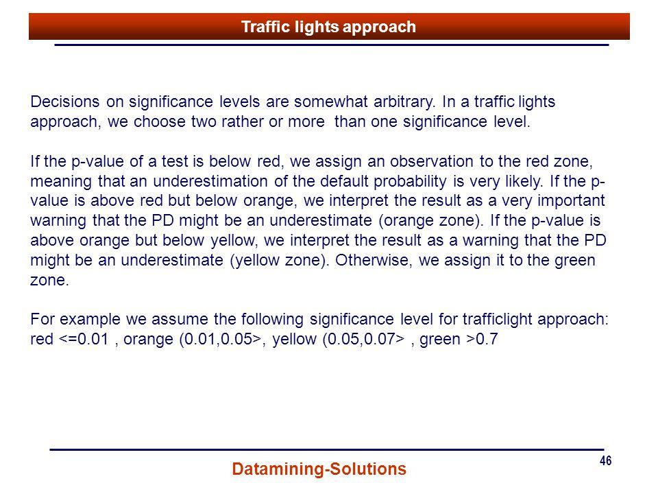 Traffic lights approach