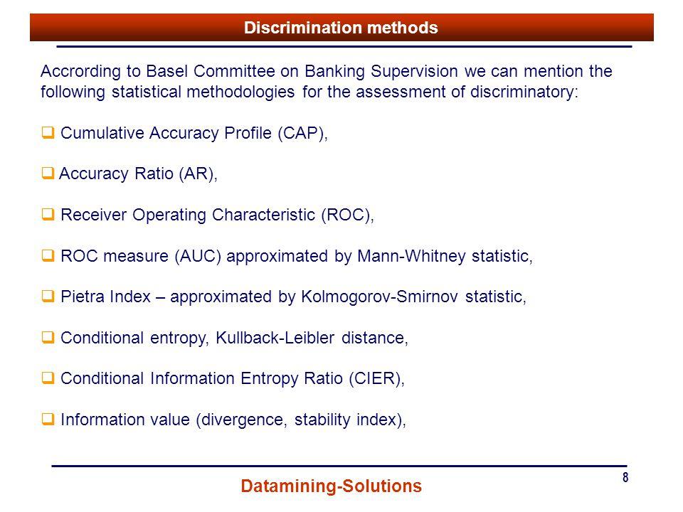 Discrimination methods