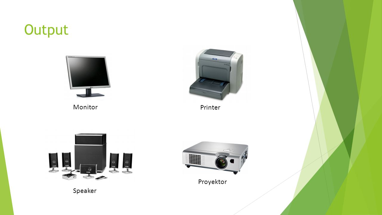Output Monitor Printer Proyektor Speaker