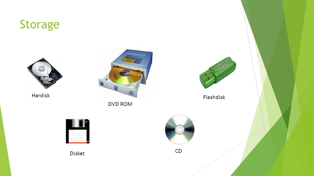 Storage Hardisk Flashdisk DVD ROM CD Disket