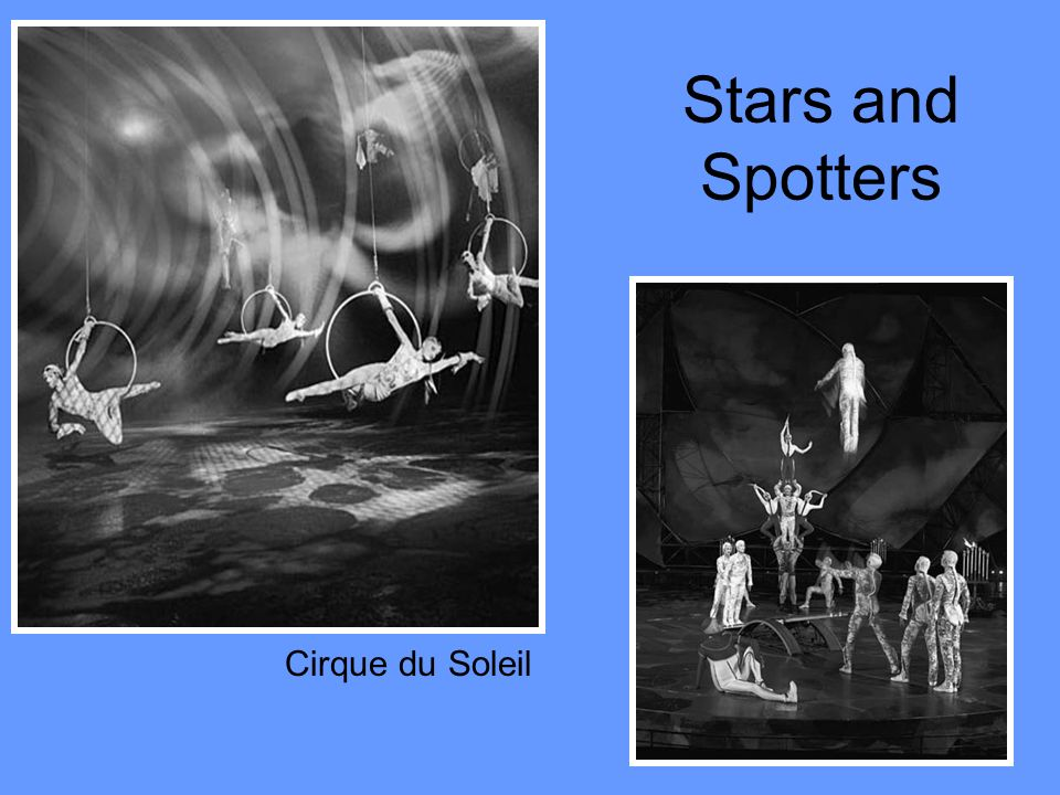 Stars and Spotters Cirque du Soleil