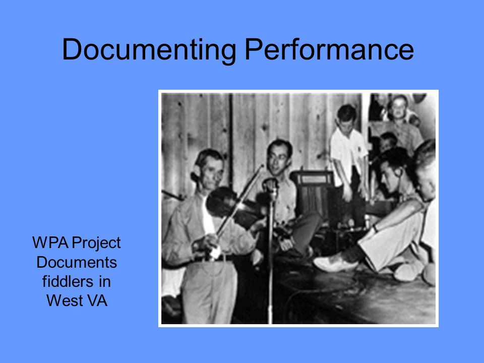 Documenting Performance