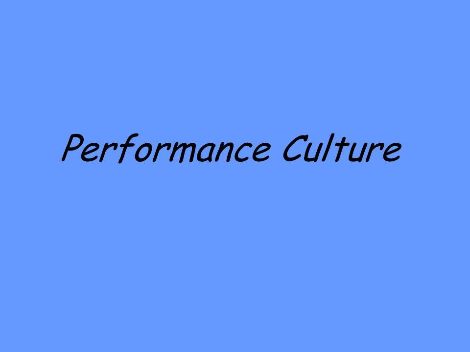 Performance Culture