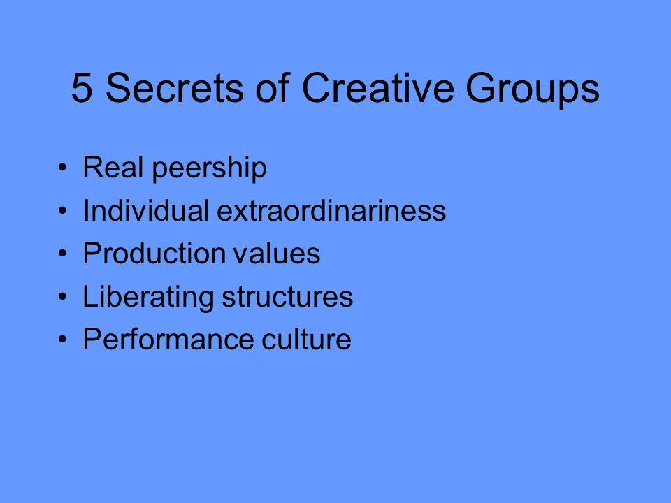 5 Secrets of Creative Groups