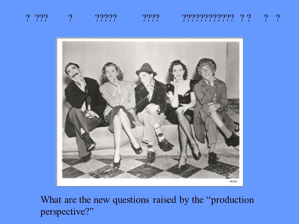 What are the new questions raised by the production perspective
