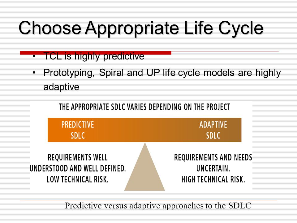 Choose Appropriate Life Cycle