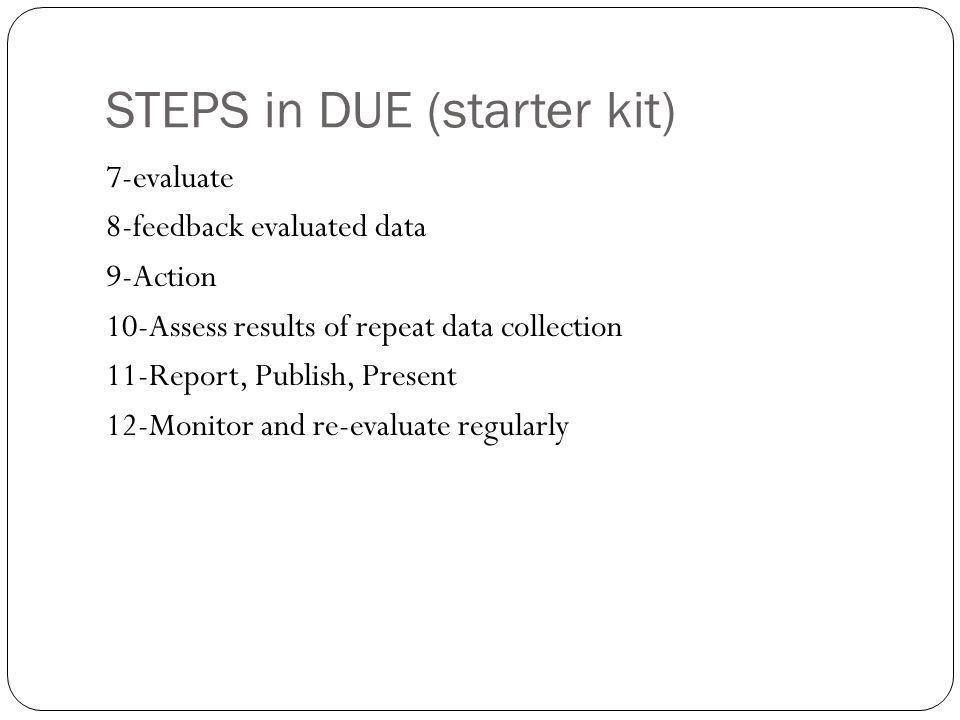 STEPS in DUE (starter kit)