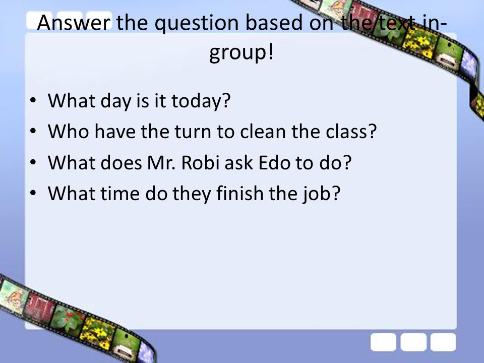 Answer the question based on the text in-group!