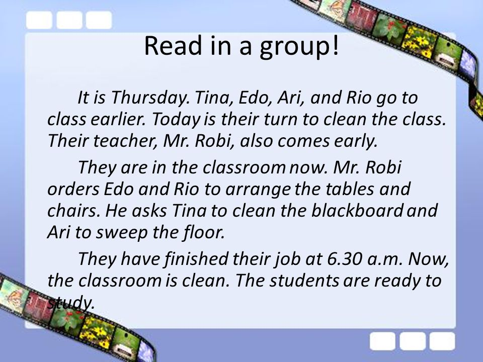 Read in a group!