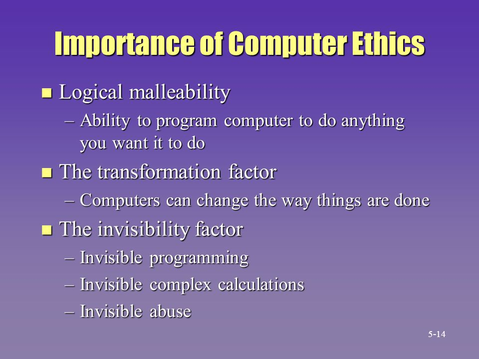 Importance of Computer Ethics