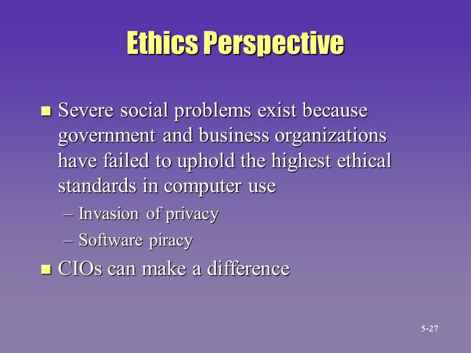 Ethics Perspective