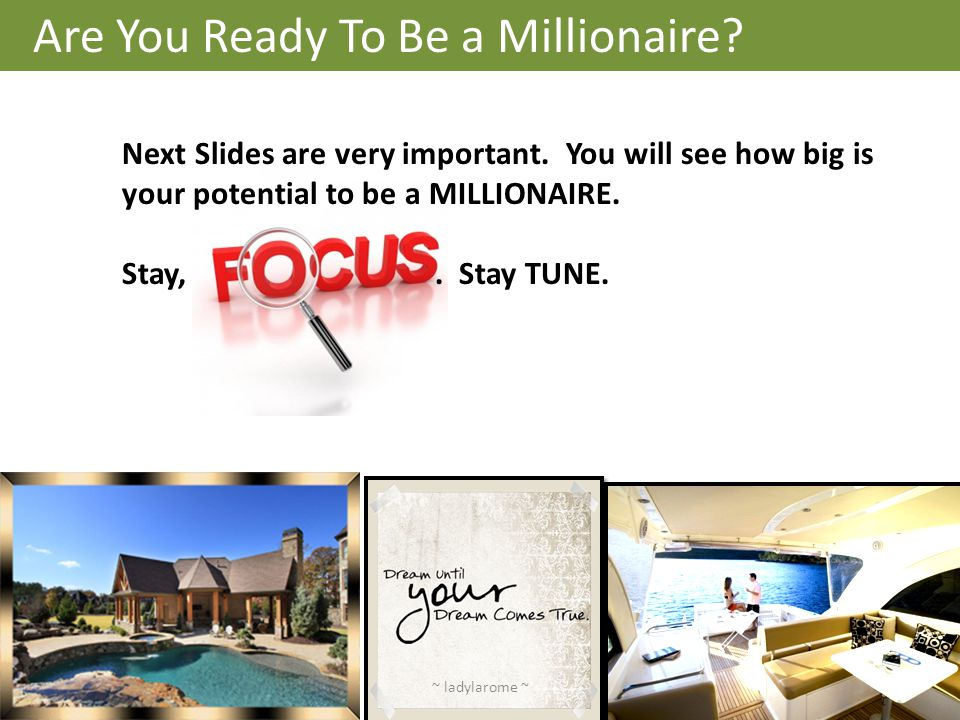 Are You Ready To Be a Millionaire