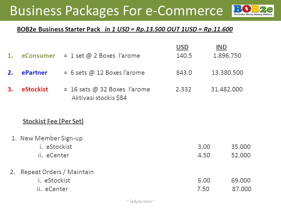 Business Packages For e-Commerce
