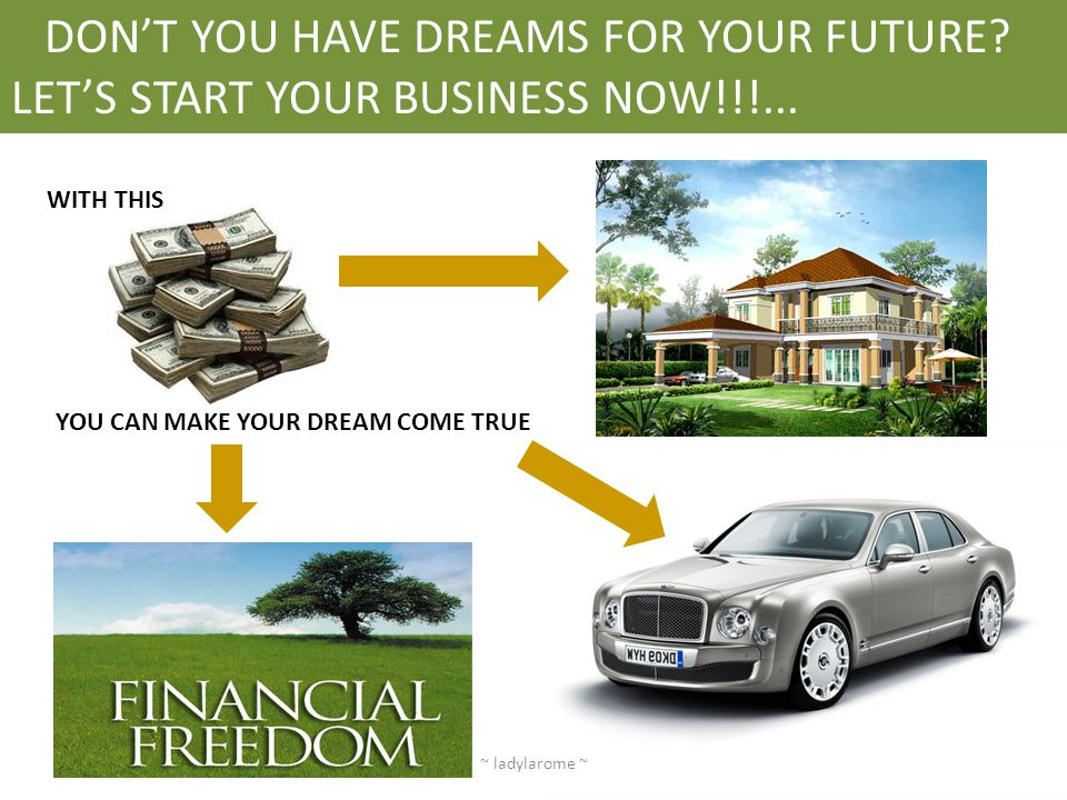 DON'T YOU HAVE DREAMS FOR YOUR FUTURE