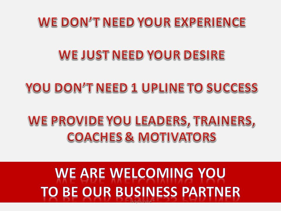 We are welcoming you to be our business partner