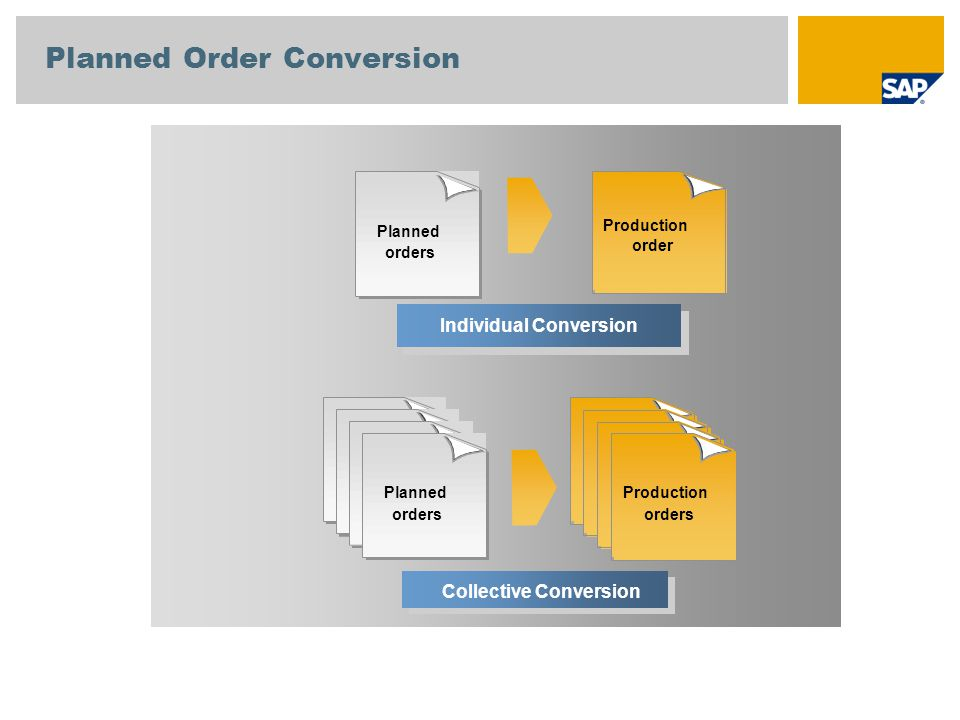 Planned Order Conversion