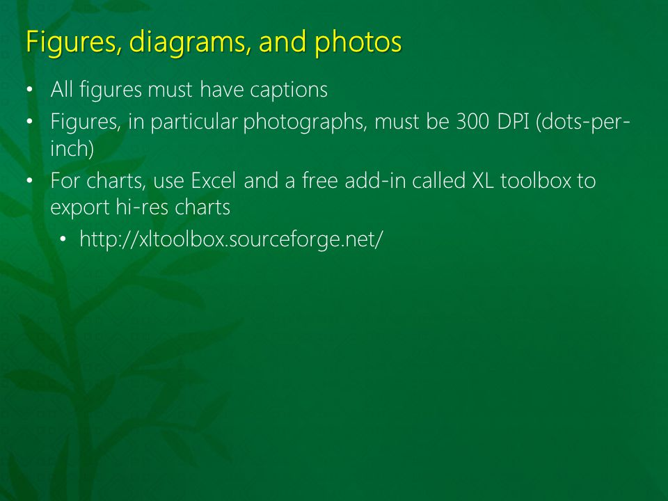 Figures, diagrams, and photos