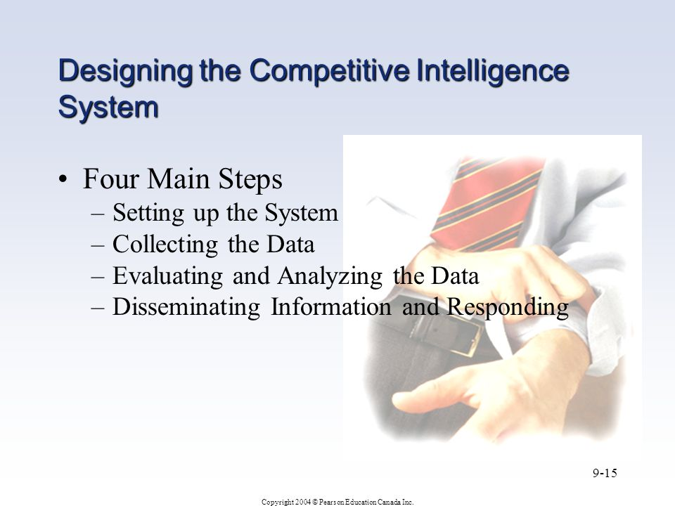Designing the Competitive Intelligence System