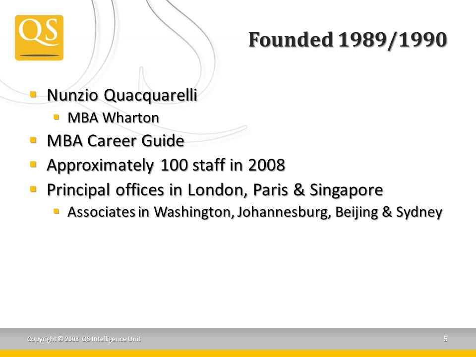 Founded 1989/1990 Nunzio Quacquarelli MBA Career Guide